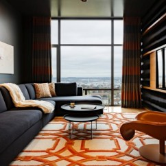 Orange Living Room Designs Metallic Cowhide Rug In How To Decorate With Stylishly Warm Up Any Freshome Com Home Decor