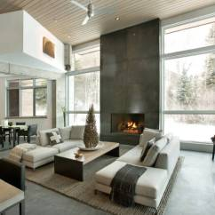 Living Room Contemporary Interiors Flower Decoration In Modern Vs Design What S The Difference Freshome Com A Open Space Flows From One Area To Another Fluidly Image Kf Home Building
