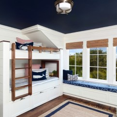 Ceiling Design Living Room 2018 Window Treatments Ideas Large Windows 20 Painted That Change Everything Freshome Com A Deep Navy Caps Off This S Nautical Theme Warming Up What Would Otherwise Be Stark White Space Image Amy Trowman