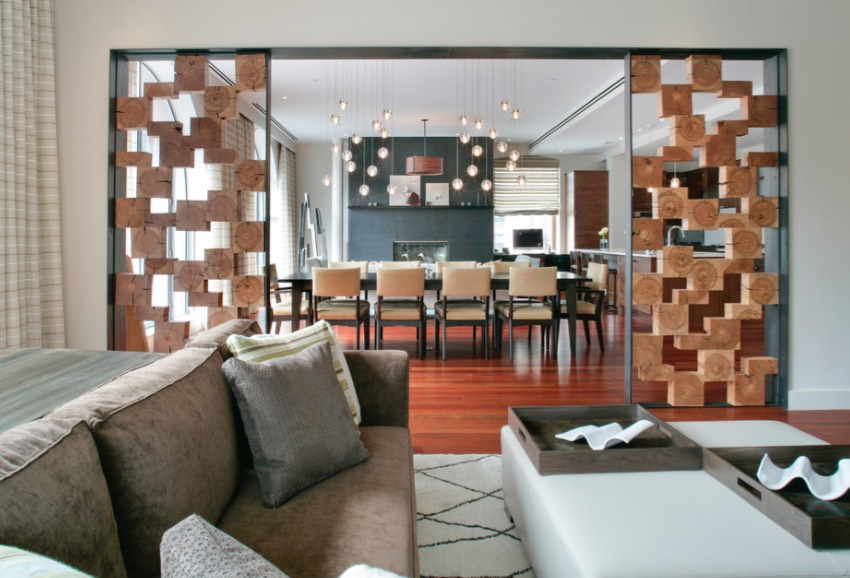modern style of divider counter in living room and kitchen design pictures awesome ideas even if you have a small space panels stacked wood blocks add graphic look to the area dividing dining image betty wasserman