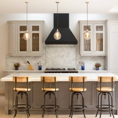 Kitchen To Go Cabinets Black Table With Bench Here S How Get In On The Two Toned Cabinet Trend Lighter Top