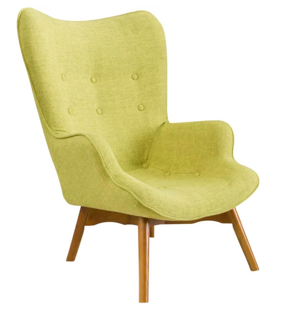 modern accent chairs office chair that reclines 20 colorful ideas and inspiration freshome green