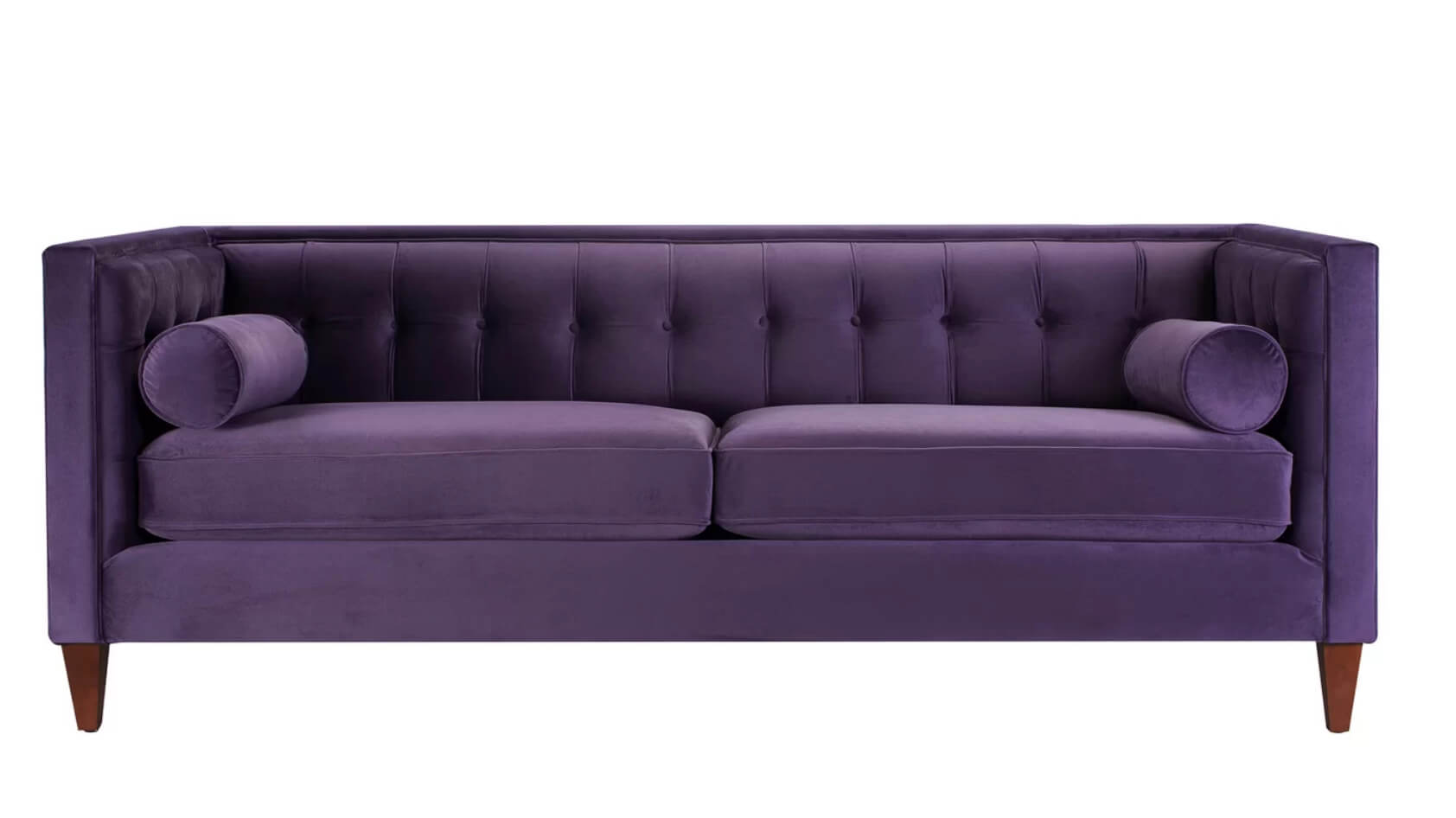 purple velvet upholstered sofa two piece slipcover 12 dreamy sofas you 39ll love freshome