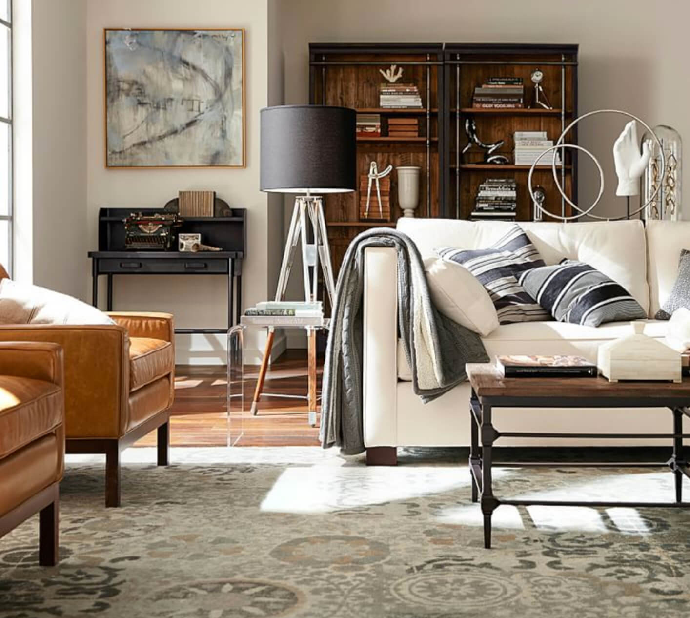 neutral rugs for living room fifth wheel with front 12 rug ideas that will change everything pottery barn