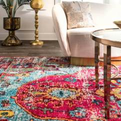 Cheap Living Room Carpets Open Floor Plan Kitchen Design 12 Rug Ideas That Will Change Everything The Aliyah Brings A Bright Accent Of Pink To Neutral Image Joss Main