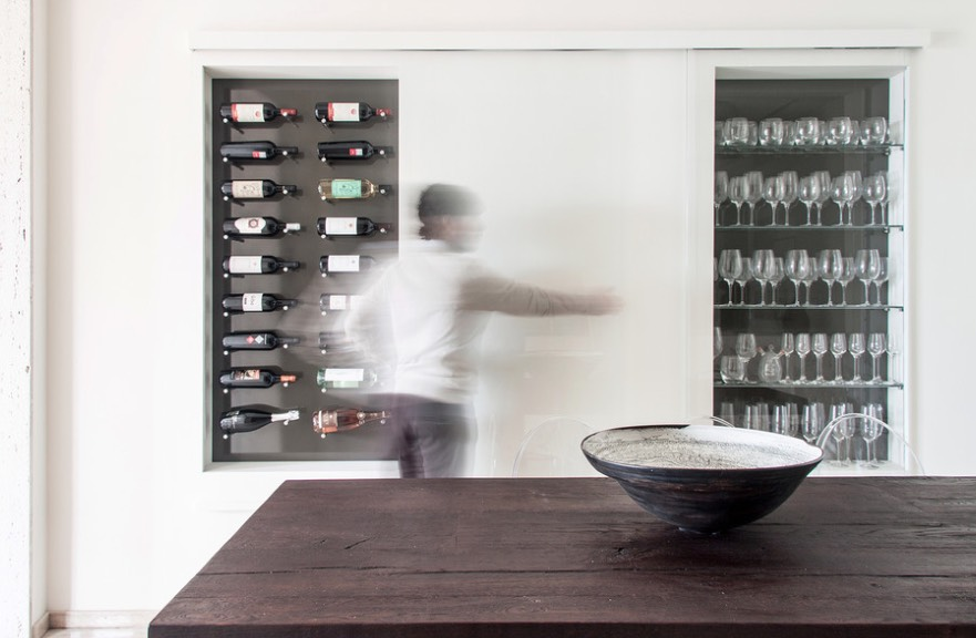 can you put a wine rack in living room small maximum seating 35 cellars and ideas recreate large recycled wood bar table next to cellar be concealed with sliding panel doors creates minimalist image studio tramas