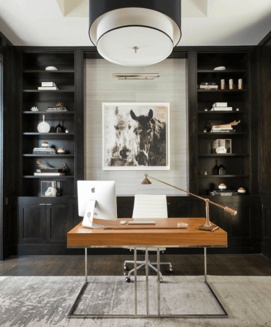 decorating a home office - cord clutter