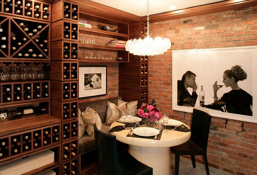can you put a wine rack in living room finance set 35 small cellars and ideas recreate add intimate table next to your racks for cozy tasting image elle decor