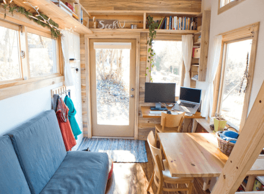Rustic tiny house