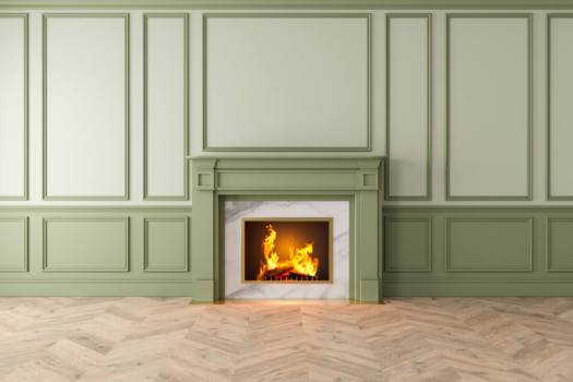 Colored Interior Trim and Molding Green Shades