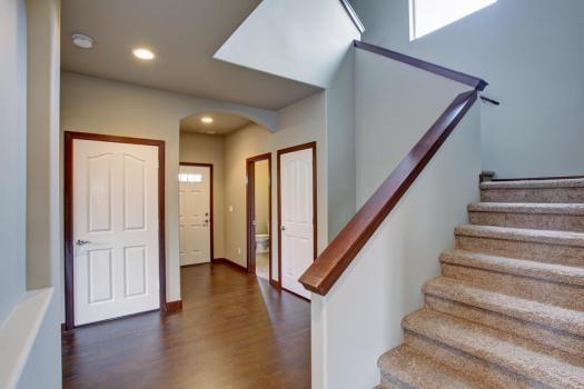 Colored Interior Trim and Molding Wood Contrast
