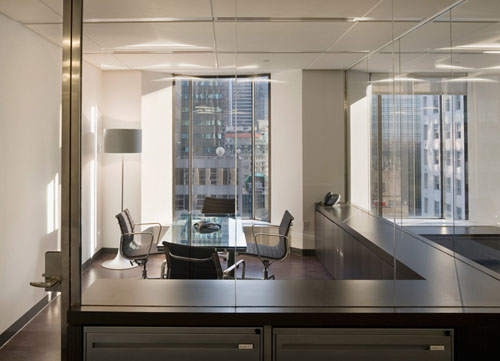 custom living room furniture beams financial office, new york,usa | freshomes