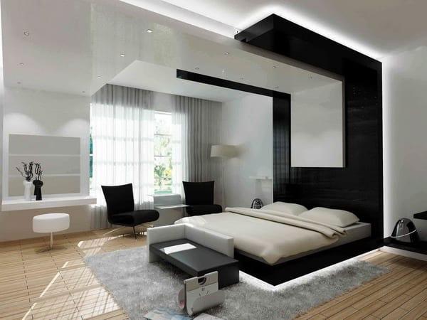 Interessante und moderne Lichtgestaltung im Schlafzimmer  fresHouse