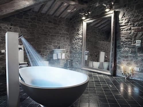 Freistehende Badewannedie moderne Badeinrichtung  fresHouse