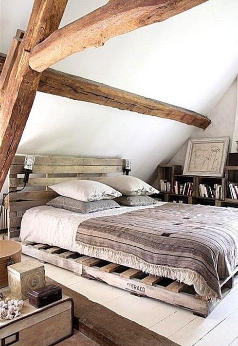schlafzimmer gestalten blau braun  wandgestaltung ideen