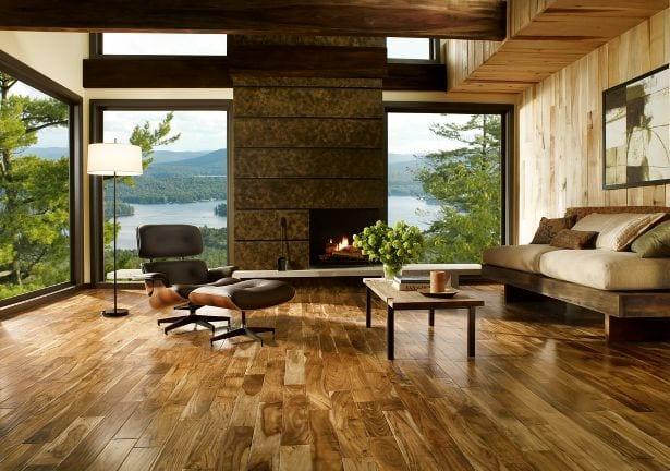 15 Ideen fr rustikalen Ziegel und Holzboden  fresHouse
