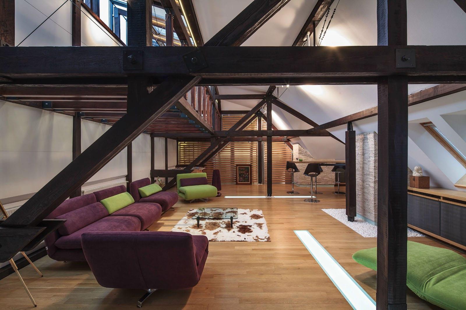 Loft  der moderne Lebensstil  fresHouse