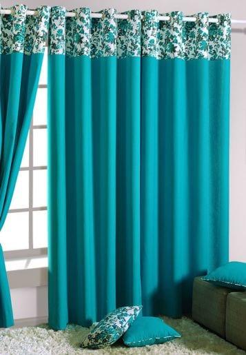 Trkise Vorhngefrische Farbe im Raum  fresHouse