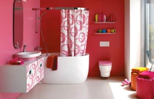 Schner Wohnen Badezimmer  farbenfrohe Badezimmer Ideen