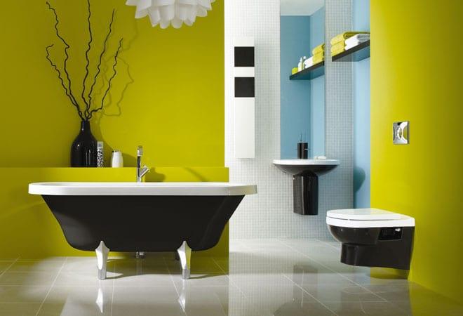Schner Wohnen Badezimmer  farbenfrohe Badezimmer Ideen  fresHouse