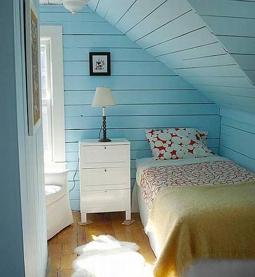 Moderne DachEinrichtungsideen fr kleines Schlafzimmer  fresHouse