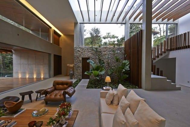 Garten im Haus  moderne Huser mit Gartengestaltungsideen  fresHouse