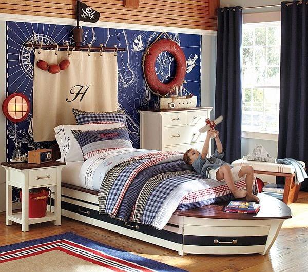 Maritimes Schlafzimmer  Schlafzimmer in wei und blau einrichten  fresHouse