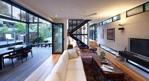 Offener Wohnraum Gestaltung moderne Huser Einrichtungsideen  fresHouse