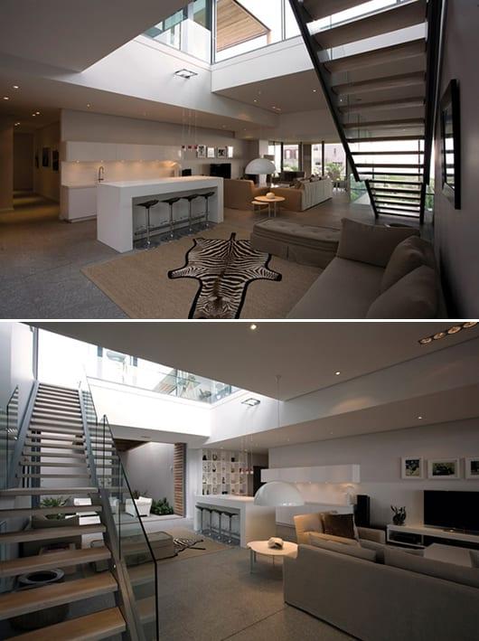 Mezzanine  offene Wohnraumgestaltung  fresHouse