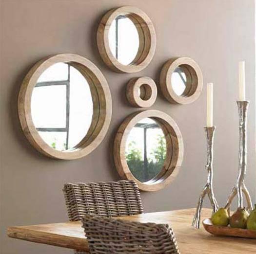 spiegel deko spiegel mit rahmen - boisholz - Deko Wandspiegel Wohnzimmer