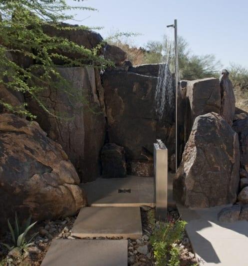 steingarten gestaltung mit outdoor dusche  fresHouse