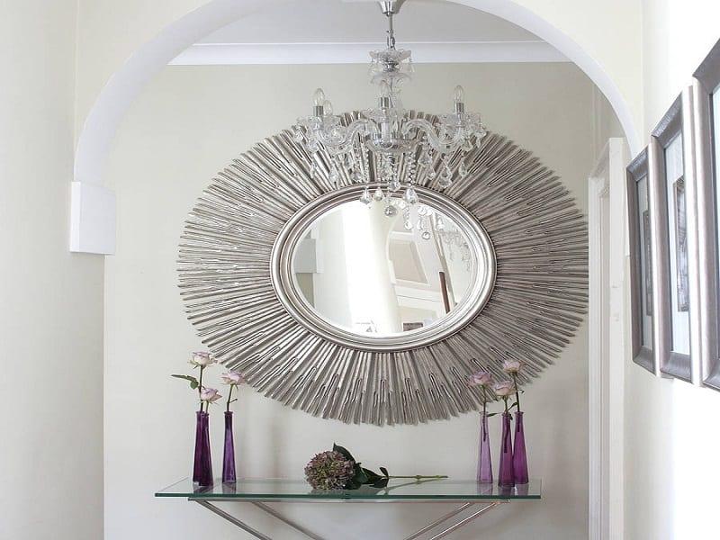 Wandgestaltung mit Spiegeln  optische Raumerweiterung  fresHouse