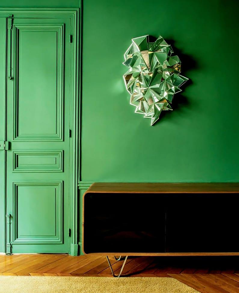 Wandgestaltung Grn  fresHouse