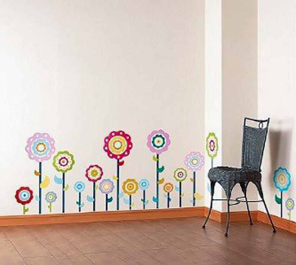 Wandtattoo Blumen  kreative Wandgestaltung  fresHouse