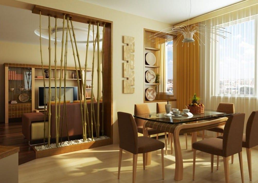 Einrichtungsideen Bambus Deko Ideen L - Boisholz Wohnzimmer Braun Gelb