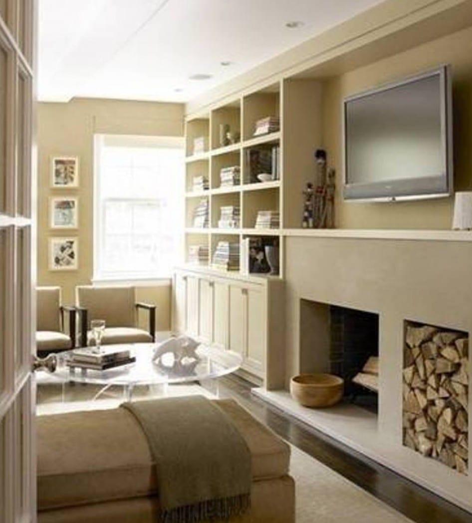 Kleine Wohnzimmer Streichen Idee Mit Wandfarbe Beige Und, Wohnzimmer Design