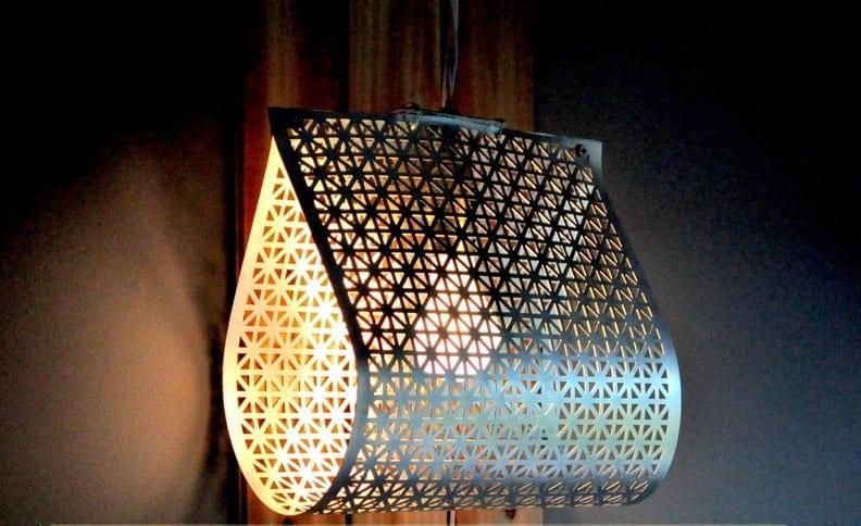 cooles Modell fr DIY Pendellampe aus Gitterblech  Lampen