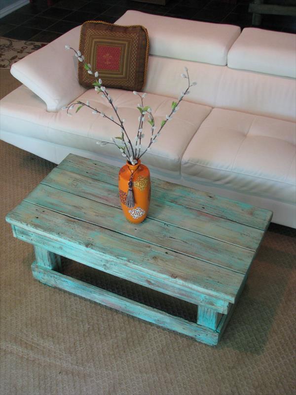 couchtisch selber bauenpalettentisch blau  fresHouse