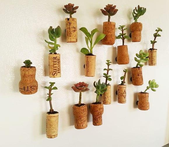 DIY Cork Planters  kreative Bastelideen mit Korken
