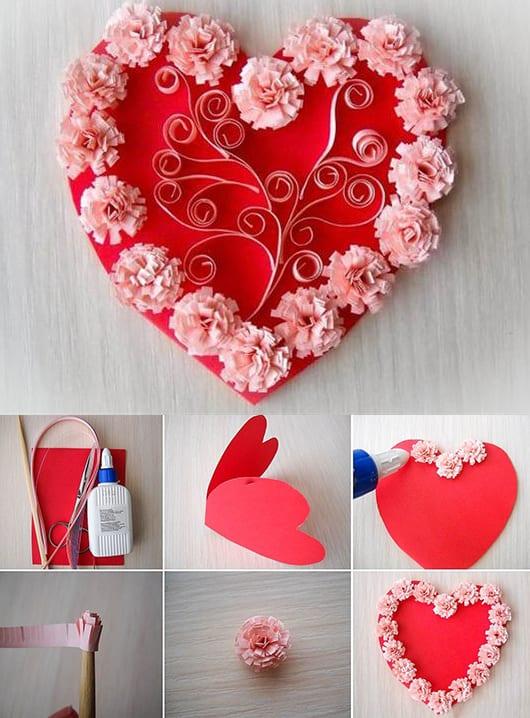 Valentinstag Karte  Bastelideen fr DIY Karte  fresHouse