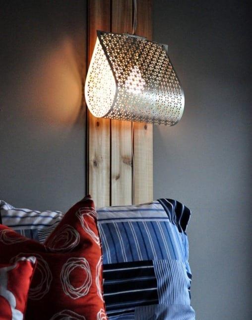 cooles Modell fr DIY Pendellampe aus Gitterblech  Lampen selber basteln Ideen  fresHouse