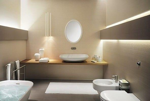 luxus badezimmer mit Wandfarbe beige  fresHouse