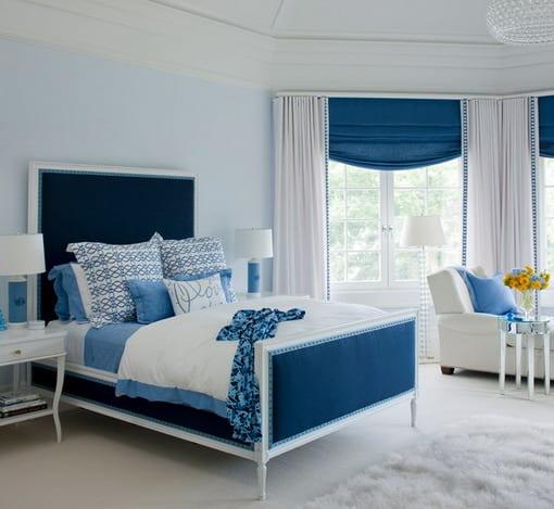 Wohnzimmer Blau Wei Grau