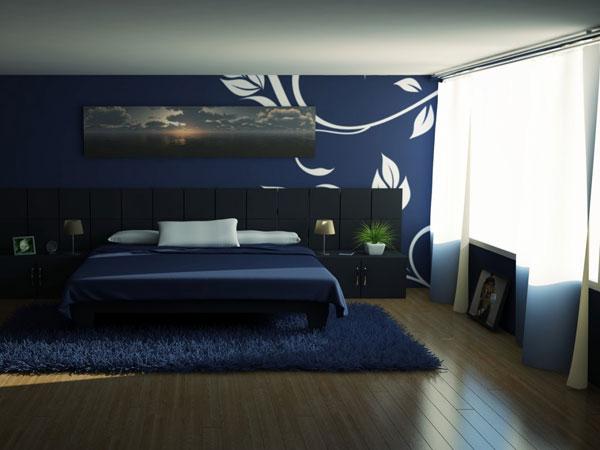 Schlafzimmer Blau  Farbgestaltung zur Erholung und zum Stressabbau  fresHouse