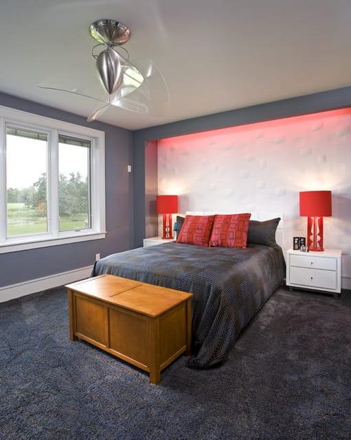 Schlafzimmer grau mit teppich grau - Teppichbode schlafzimmer grau ...