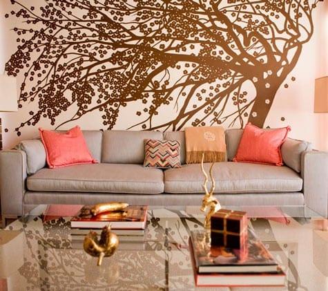 Wandfarbe Apricot  frische Wand Streichen Ideen  fresHouse