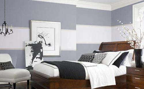 graue wand im schlafzimmer   weisse möbel jugendzimmer