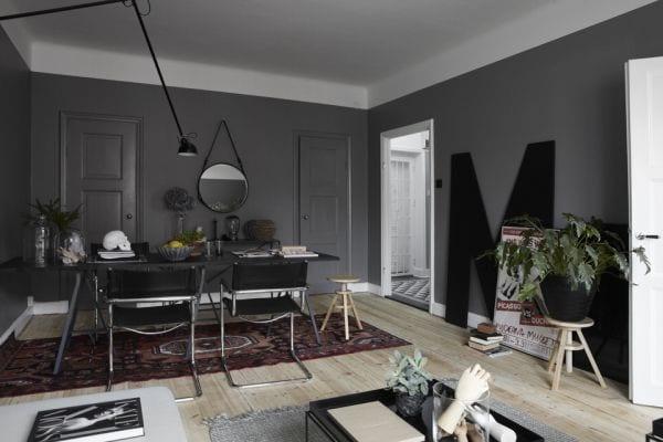 Graue Wandfarbe Wohnzimmer   Badezimmer & Wohnzimmer Wohnzimmer Grau Gestrichen