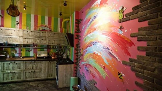 Kche Wandfarbe  40 Ideen fr Farbgestaltung der Kche