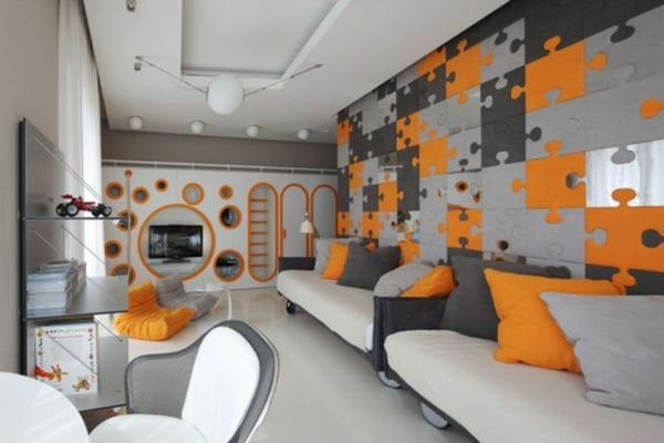 wohnzimmer grau orange - boisholz - Wohnzimmer Gestalten Orange